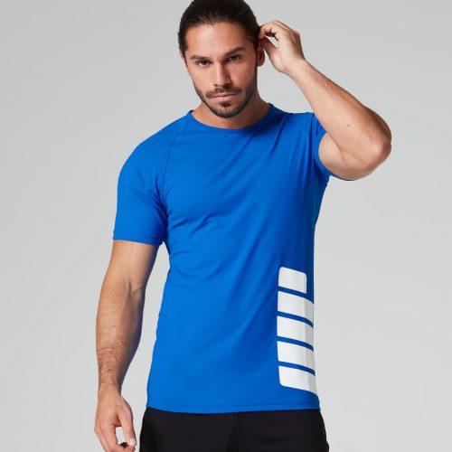 Brand Print T-Shirt - Dark Blue - XXL
