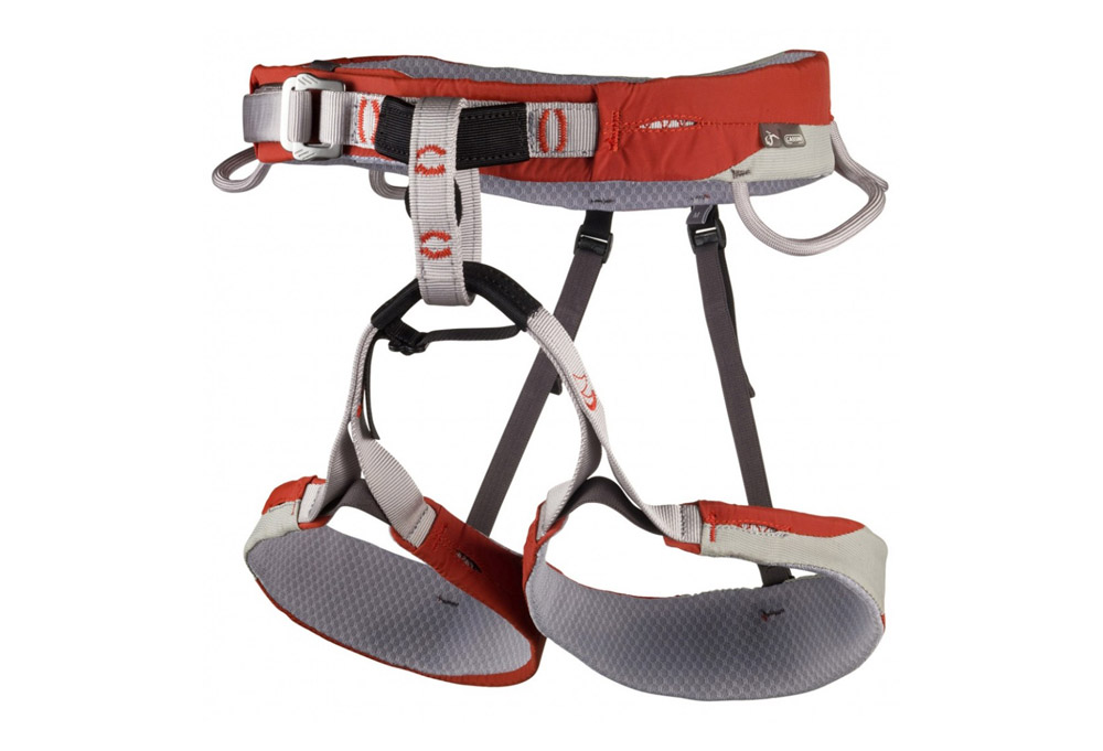 CAMP USA Cassin Laser Harness - grey/red, small