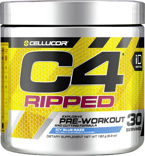 Cellucor C4 Ripped - 30 Servings Icy Blue Raz