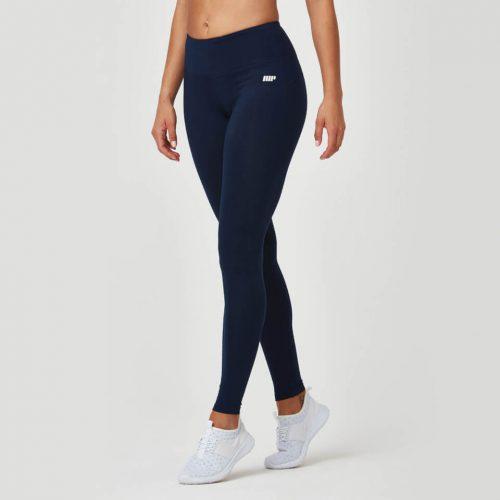 Classic Heartbeat Full Length Leggings - Navy - XL