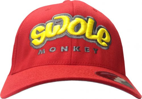 Cutler Athletics Swole Monkey Flexfit Hat - L/XL Red