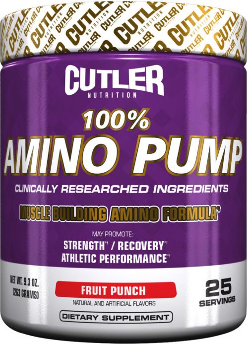 Cutler Nutrition 100% Amino Pump - 25 Servings Fruit Punch