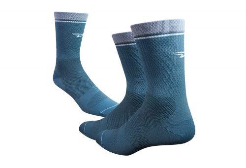 """DeFeet Levitator Lite 6"""" Socks - gunmetal, medium"""