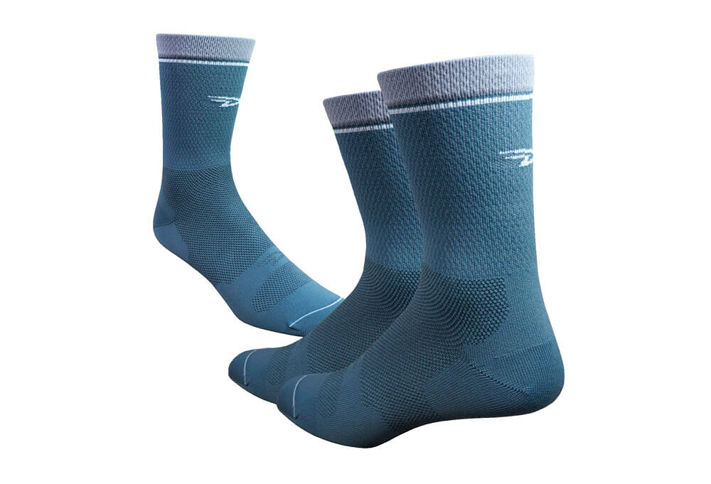 "DeFeet Levitator Lite 6"" Socks - gunmetal, small"