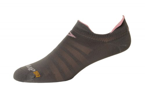Drymax Running Hyper Thin No Show Double Tab Socks - anthracite/pink, small