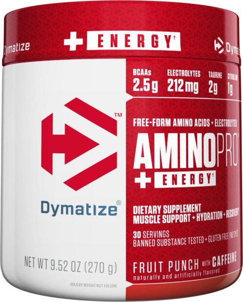 Dymatize Amino Pro - 30 Servings (Caffeinated) Fruit Punch