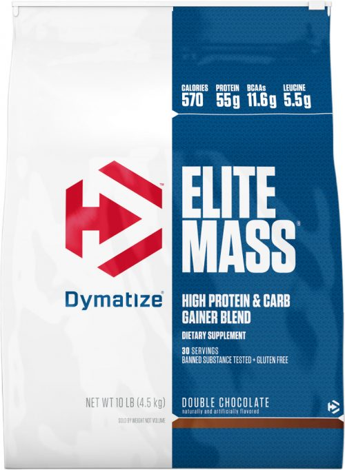 Dymatize Elite Mass - 10lbs Double Chocolate