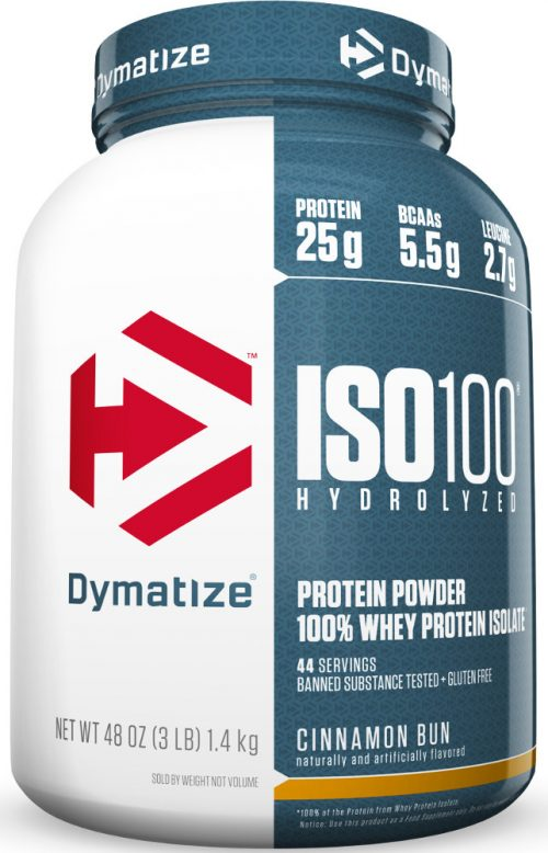 Dymatize ISO100 - 3lbs Cinnamon Bun
