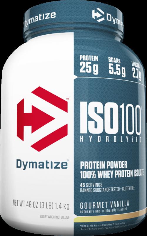 Dymatize ISO100 - 3lbs Gourmet Vanilla