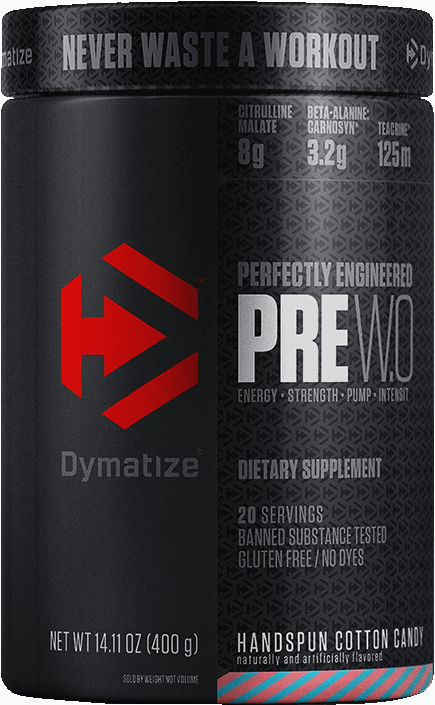 Dymatize PRE WO - 20 Servings Handspun Cotton Candy