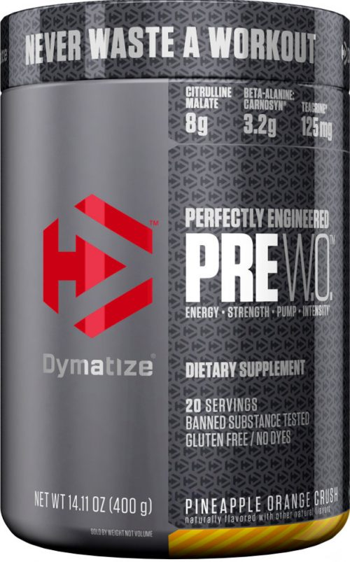 Dymatize PRE WO - 20 Servings Orange Pineapple Crush