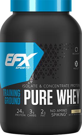 EFX Sports Training Ground Pure Whey - 2.4lbs Vanilla