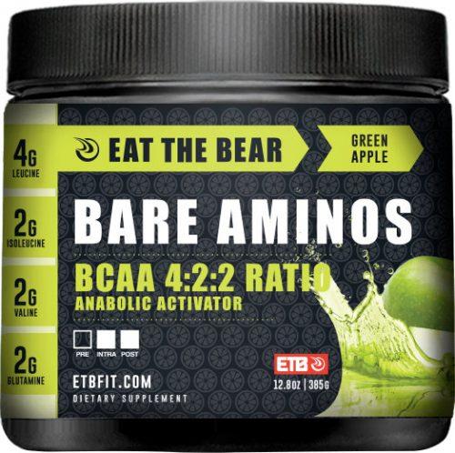 Eat The Bear Bare Aminos - 30 Servings Green Apple