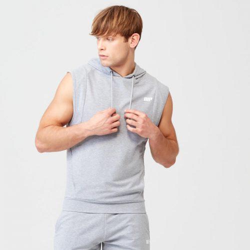 Form Sleeveless Hoodie - Grey Marl - XXL
