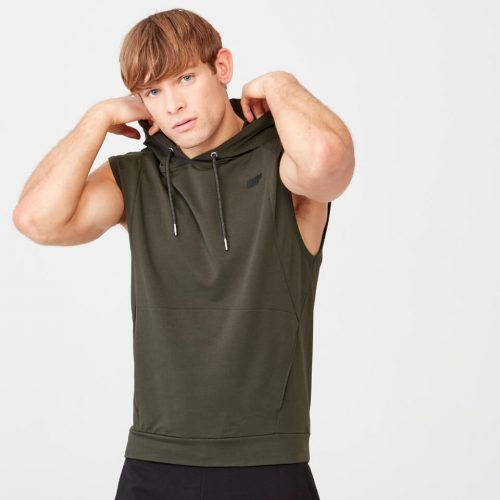Form Sleeveless Hoodie - Khaki - L