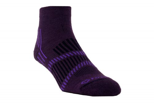 Fox River Lightweight 1/4 Crew Socks - Women's - grape/purple/navy, small