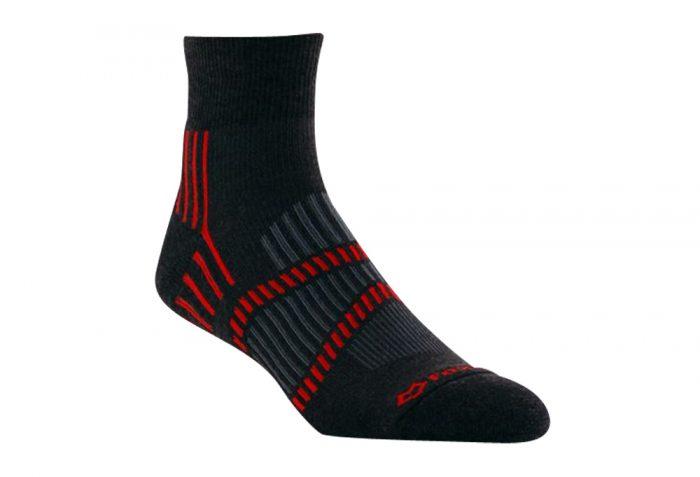 Fox River Lightweight 1/4 Crew Socks - graphite /persimmon/grey, small