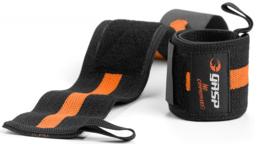 GASP 1RM Wrist Wraps - OS Black/Flame