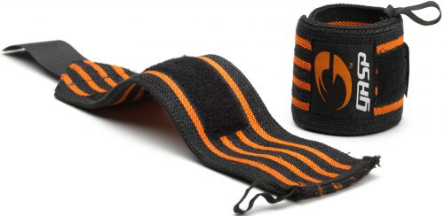GASP Hardcore Wrist Wraps - One Size Black/Orange