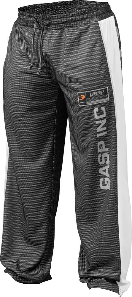 GASP NO1 Mesh Pants - Black/White Medium