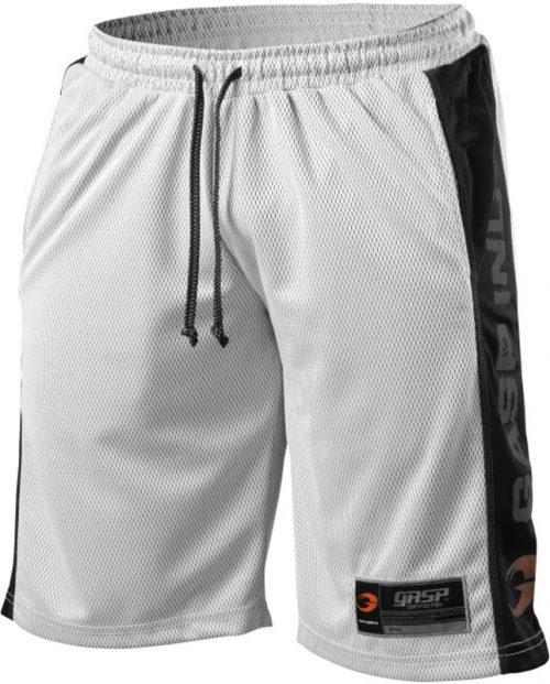 GASP NO1 Mesh Shorts - White/Black Large