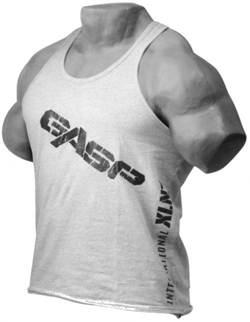 GASP Vintage T-Back Tank - Grey Medium