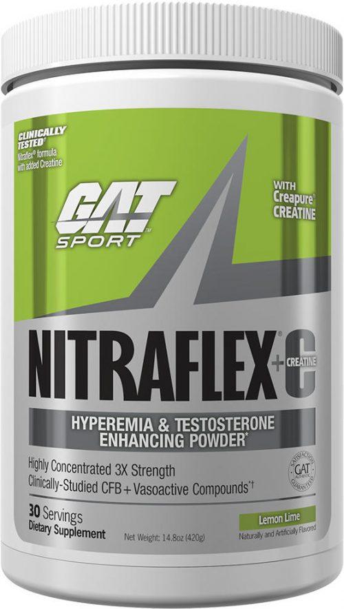 GAT Sport Nitraflex + C - 30 Servings Lemon Lime