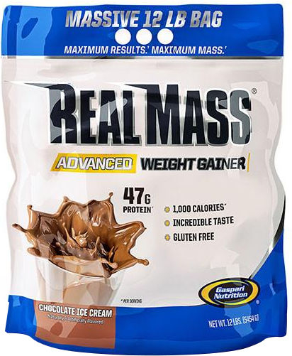 Gaspari Nutrition RealMass Advanced Weight Gainer - 12lbs Chocolate Ic