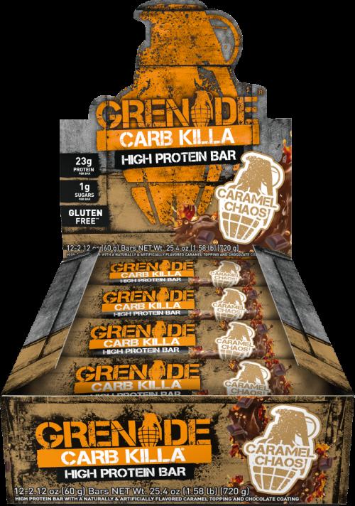 Grenade Carb Killa Bars - Box of 12 Caramel Chaos