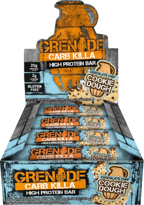 Grenade Carb Killa Bars - Box of 12 Chocolate Chip Cookie Dough