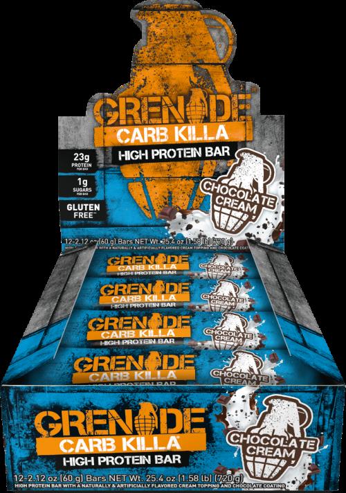 Grenade Carb Killa Bars - Box of 12 Chocolate Cream