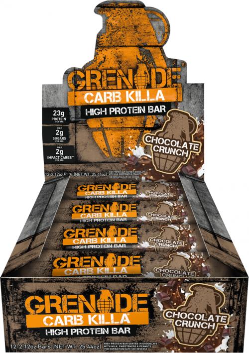 Grenade Carb Killa Bars - Box of 12 Chocolate Crunch