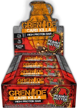Grenade Carb Killa Bars - Box of 12 Peanut Nutter