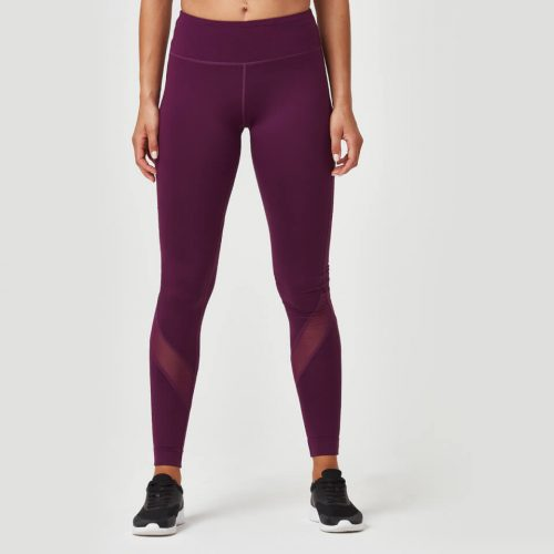 Heartbeat Full Length Leggings - Plum - L
