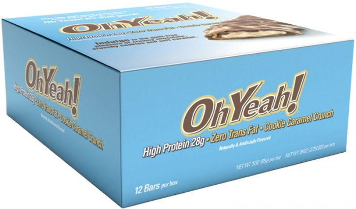 ISS Oh Yeah! Bars - Box of 12 Cookie Caramel Crunch