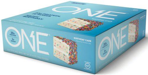 ISS Oh Yeah! ONE Bar - Box of 12 Birthday Cake