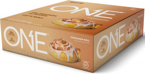 ISS Oh Yeah! ONE Bar - Box of 12 Cinnamon Roll