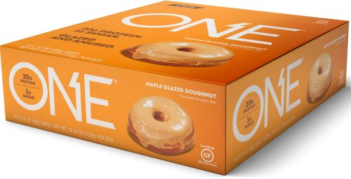 ISS Oh Yeah! ONE Bar - Box of 12 Maple Glazed Doughnut