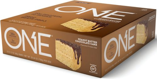 ISS Oh Yeah! ONE Bar - Box of 12 Peanut Butter Chocolate Cake