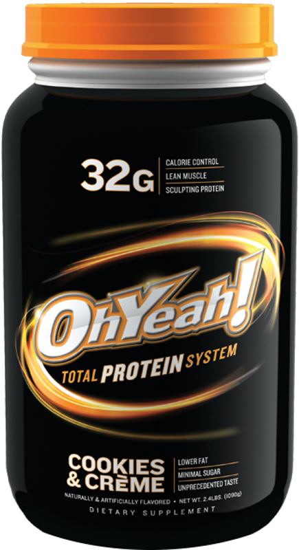 ISS Oh Yeah! Total Protein System - 2.4lbs Cookies & Creme