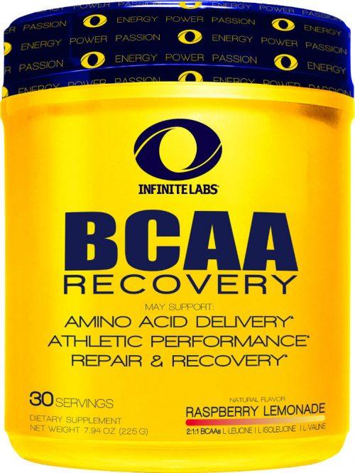Infinite Labs BCAA Recovery - 30 Servings Raspberry Lemonade