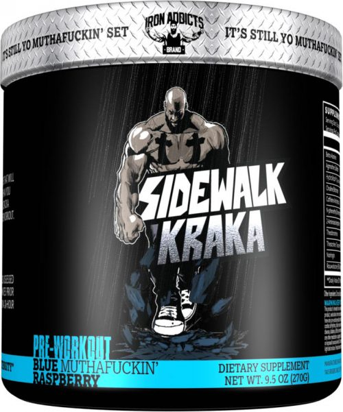 Iron Addicts Sidewalk Kraka - 30 Servings Blue Muthaf*ckin Raspberry