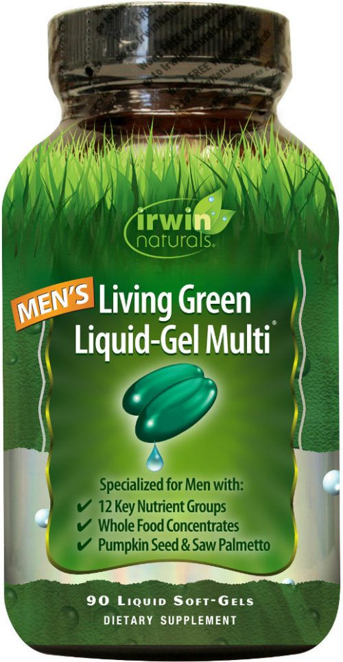 Irwin Naturals Living Green Multi for Men - 90 Softgels