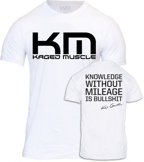 """Kaged Muscle """"Knowledge"""" T-Shirt - White Large"""