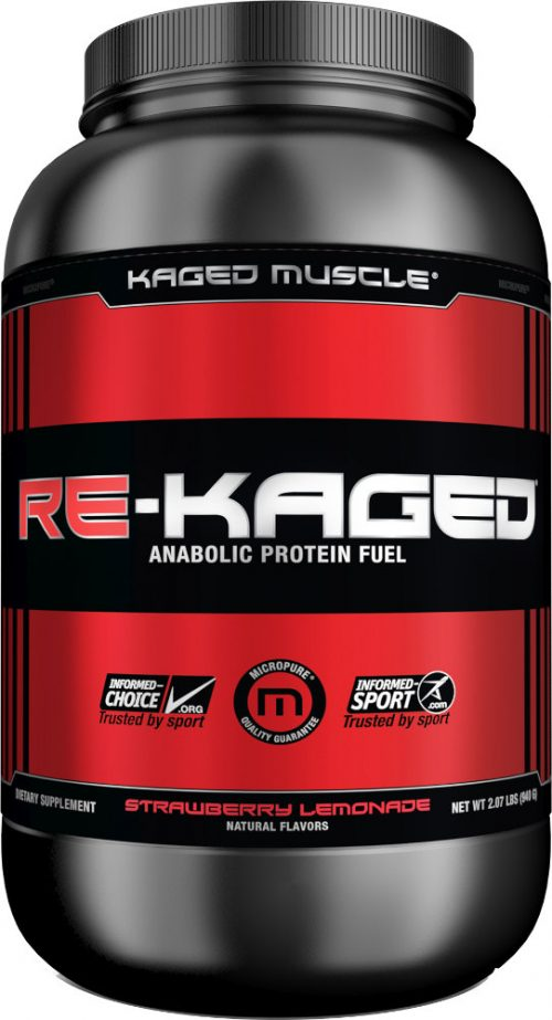 Kaged Muscle Re-Kaged - 20 Servings Strawberry Lemonade