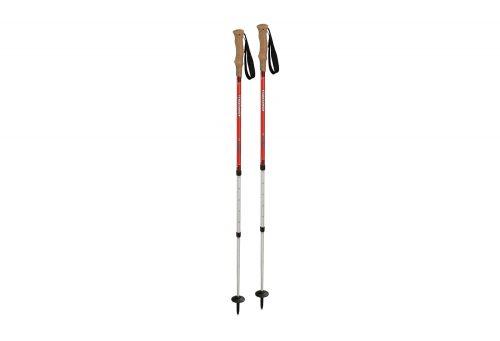 Komperdell Highlander Cork AS Trekking Poles - red, adjustable