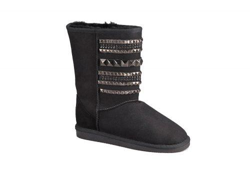 LAMO Suede Hardwear Boot - Womens - black, 8