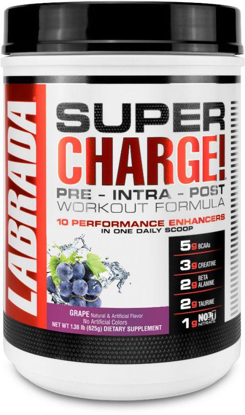 Labrada Nutrition Super Charge - 25 Servings Grape