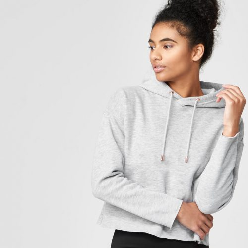 Luxe Classic Hoodie - Grey Marl - L