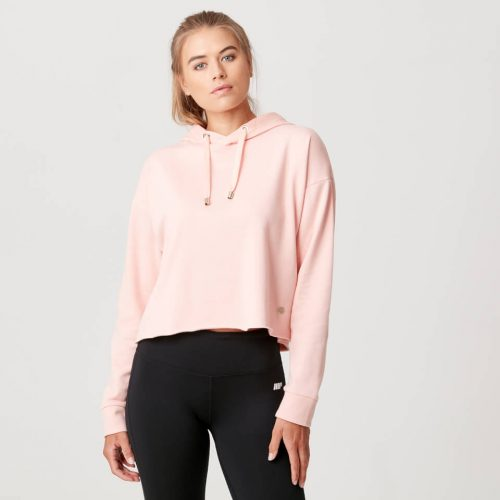 Luxe Lounge Hoodie - Blush - L